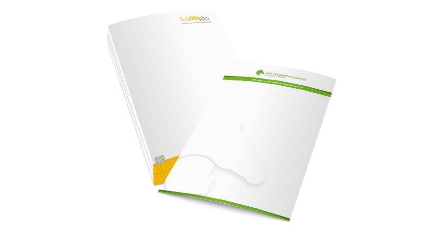 Briefpapier Drucken Beidseitig Scomplus