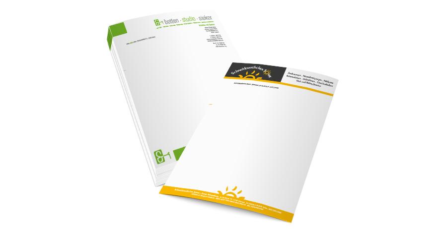 Briefpapier Drucken Beidseitig Sieker