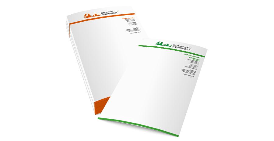 Briefpapier Drucken Einseitig Schokolinski