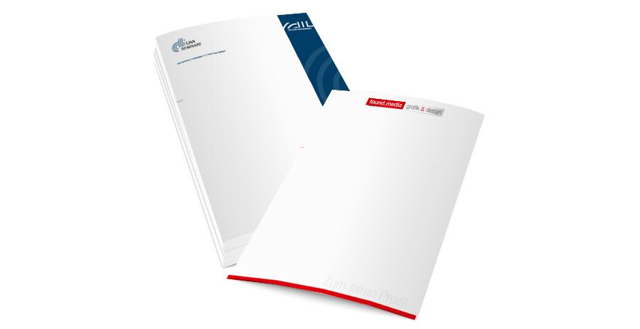 Briefpapier Drucken Logo