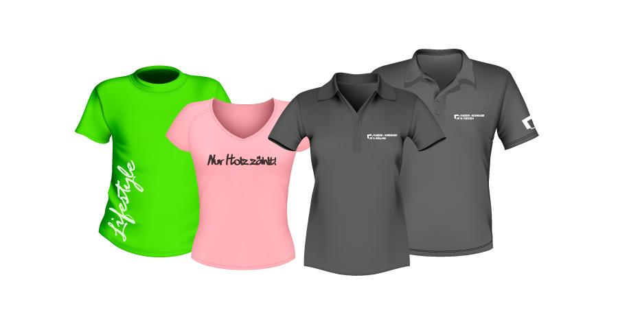 Textilien Bedrucken Shirt Polo Logo