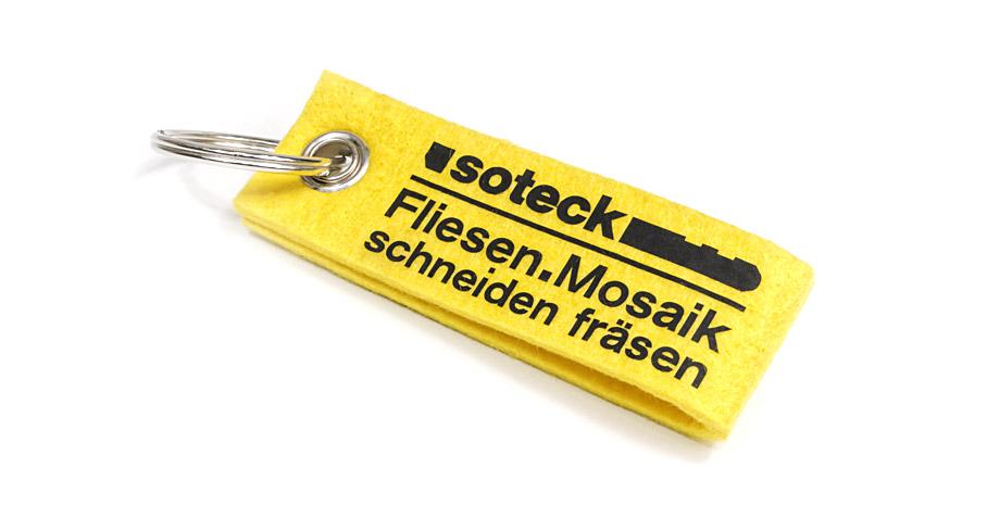 Werbeartikel Filz Schluesselanhaenger Druck Schwarz Xxl Druck