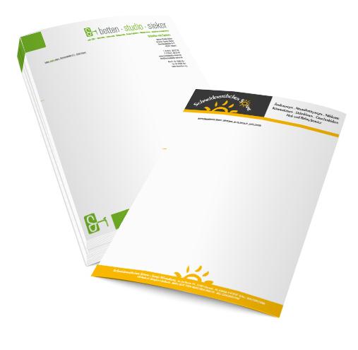 Briefpapier Guenstig Drucken Layout Design Overath Koeln Nrw