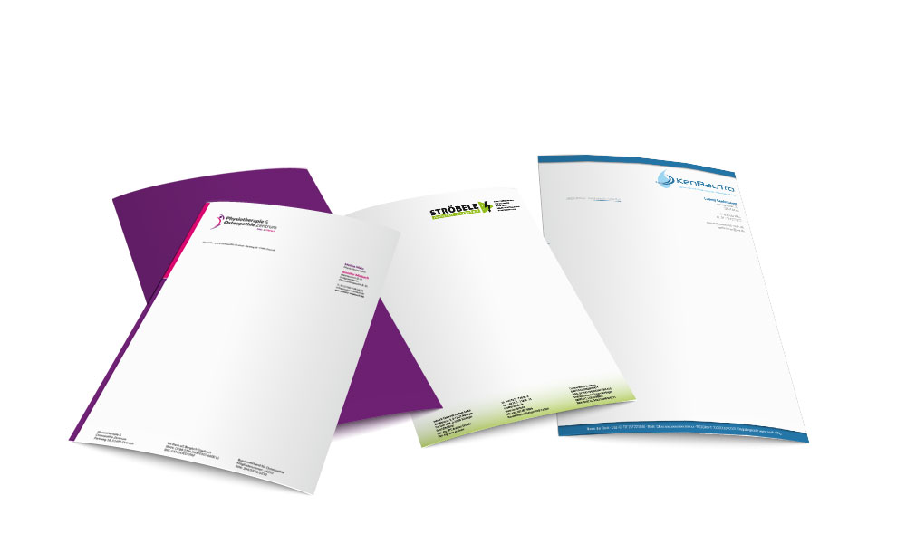 Briefpapier Layout Guenstig Drucken Beidseitig Farbig Kaufen