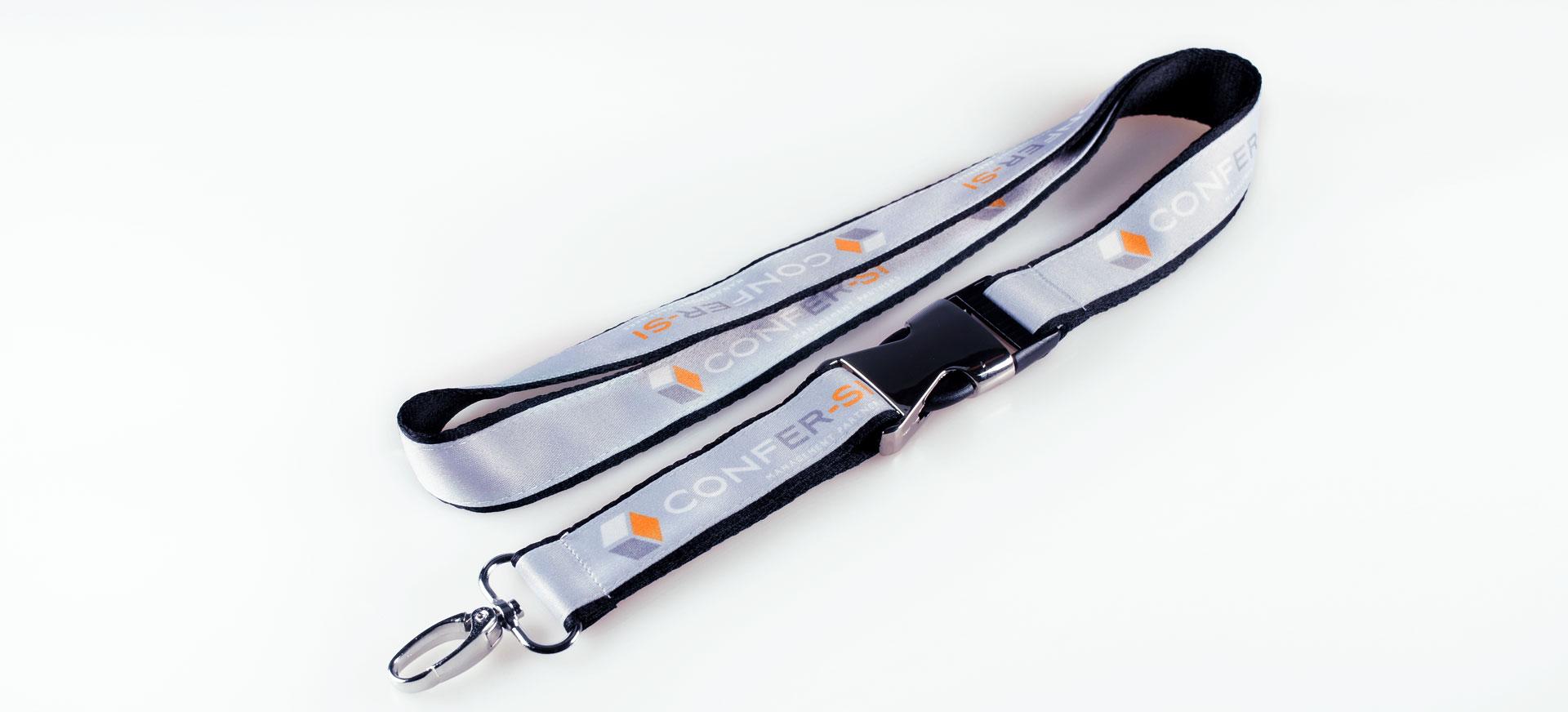 Lanyard Bedrucken Schluesselband Doppelt Logo Metall Verschluss Glanz Filz Alternative Bunt Bedruckt Guenstig Kaufen 20mm Satinband Grau