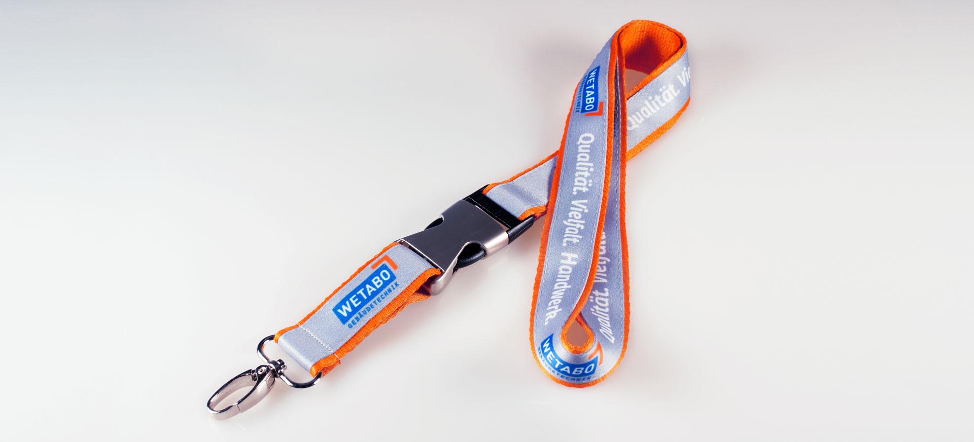Lanyard Bedrucken Schluesselband Doppelt Logo Metall Verschluss Matt Filz Alternative Bunt Bedruckt Guenstig Kaufen 20mm Satinband Grau