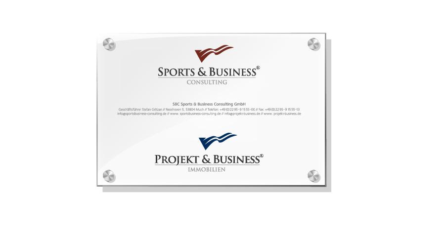 Schilder Beschriftung Firmenschild Fassade Logo