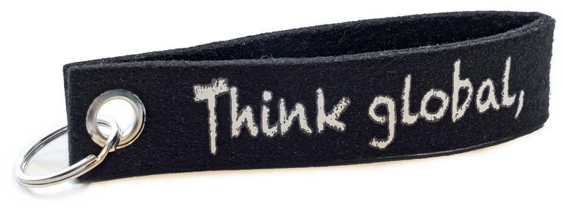 Schluesselanhaenger Filz Bedrucken Schwarz Logo Beidseitig Siebdruck Weiss Guenstig Kaufen