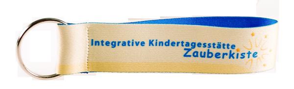 Schluesselbaender Bedrucken Logo Filz Alternative Shortstrap Guenstig Kaufen 25mm Satinband Gelb Blau