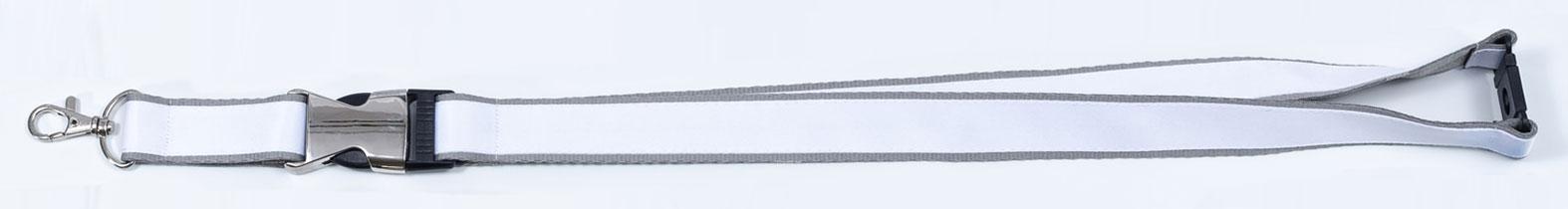 Schluesselbaender Bedrucken Zwischenstueck Karabiner Metall Verschluss Doppellagig Kleinauflage Beidseitig Bunt