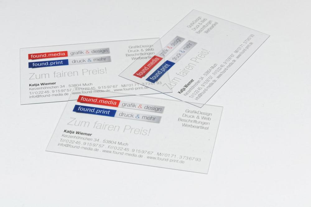 Transparent Guenstig Pvc Visitenkarten Drucken Mit Weiss Kaufen